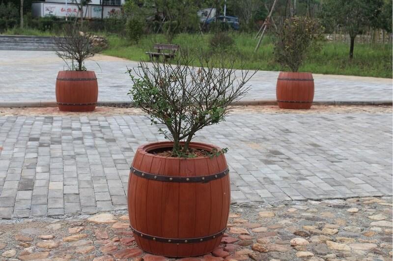 水泥仿木花桶1