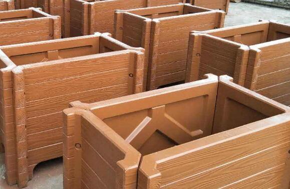 水泥仿木花箱4