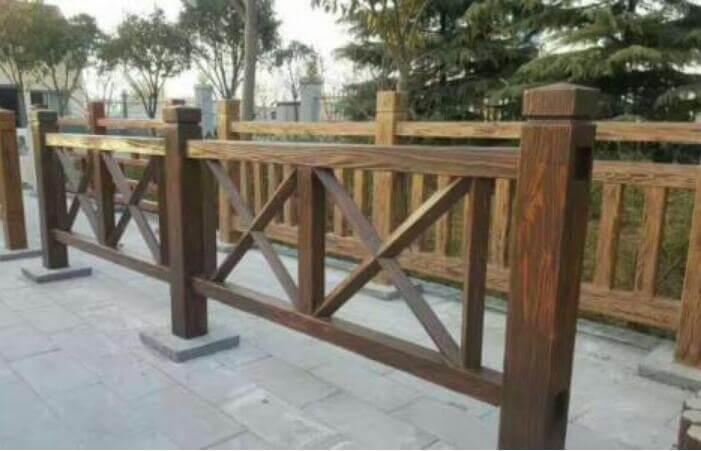 水泥仿木護欄1