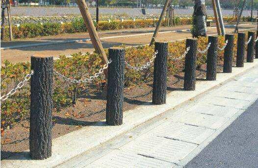 水泥仿木圍欄1