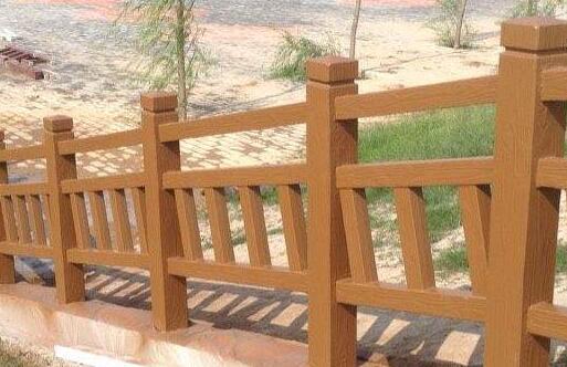 水泥仿木圍欄2