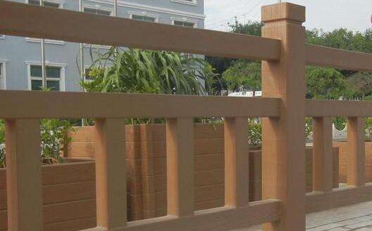 水泥仿木圍欄6
